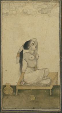 18th Century Mughal Miniature Nude Painting 2