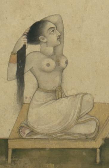 18th Century Mughal Miniature Nude Painting 3