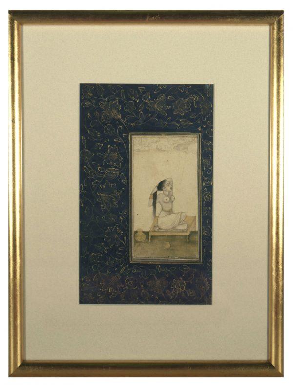 18th Century Mughal Miniature Nude Painting