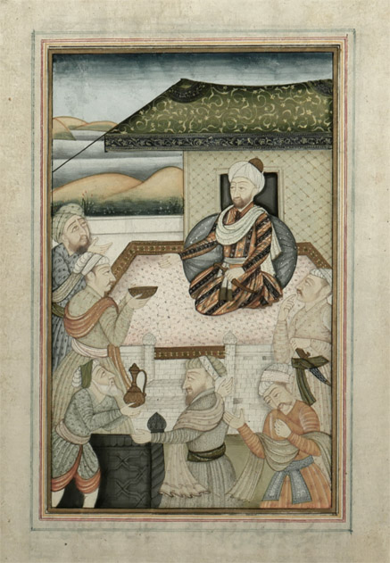 19th Century Islamic Mughal Miniature Painting, Darbar 2