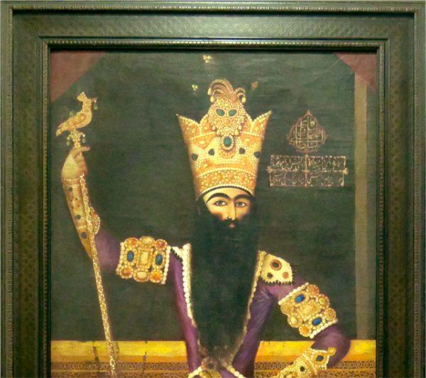 19th Century Portrait Painting of Fath Ali Shah Qajar 6