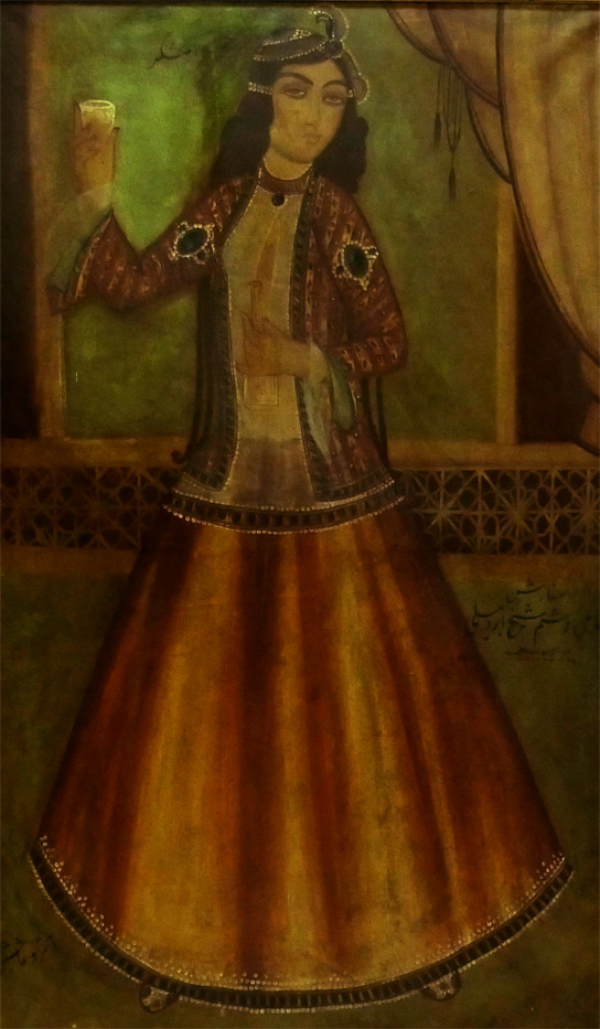19th Century Qajar Painting Signed & Dated 2