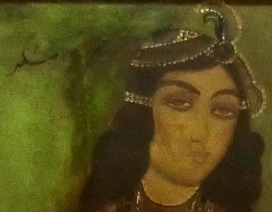 19th Century Qajar Painting Signed & Dated 7