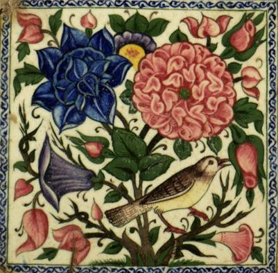 Safavid Persia Tile, Golo Murq 2