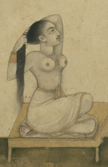 18th Century Mughal Miniature Nude Painting 3