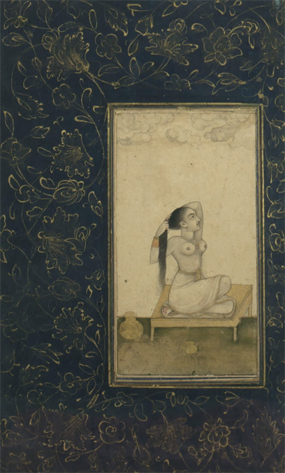 18th Century Mughal Miniature Nude Painting1