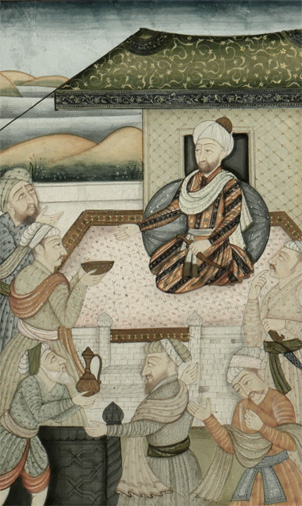19th Century Islamic Mughal Miniature Painting, Darbar 3