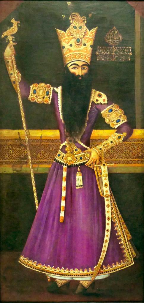 19th Century Portrait Painting of Fath Ali Shah Qajar 2