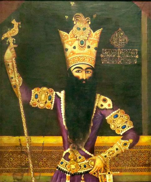 19th Century Portrait Painting of Fath Ali Shah Qajar 3