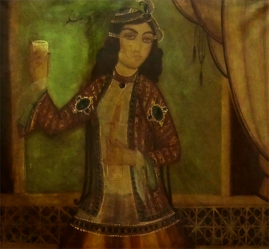 19th Century Qajar Painting Signed & Dated 3