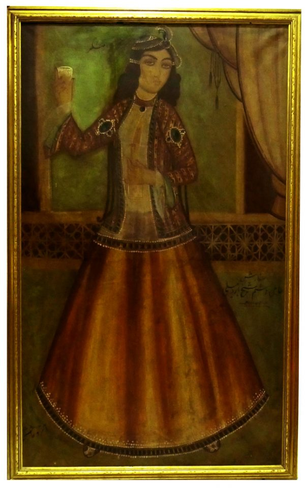 19th Century Qajar Painting Signed & Dated