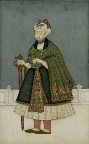Miniature Painting of Mughal Emperor, Nasir-ud-Din Humayun 2