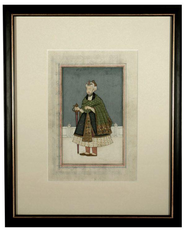 Miniature Painting of Mughal Emperor, Nasir-ud-Din Humayun